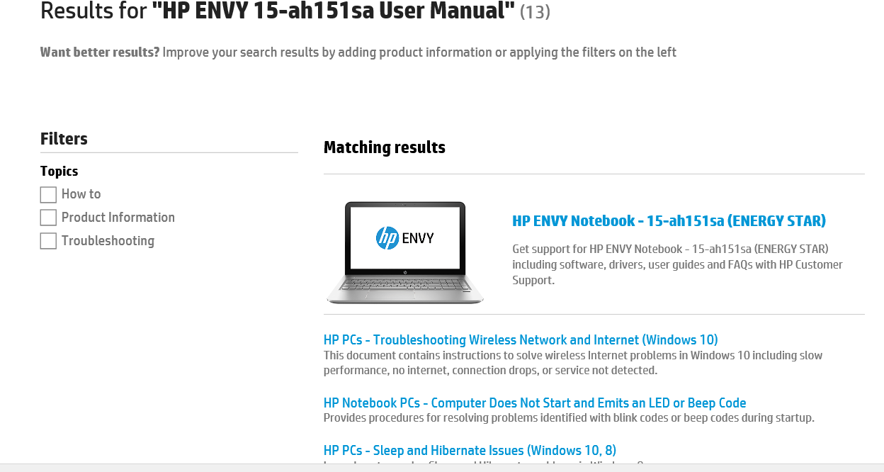 snip - HP website looking for manual 2 2016-01 21st.PNG