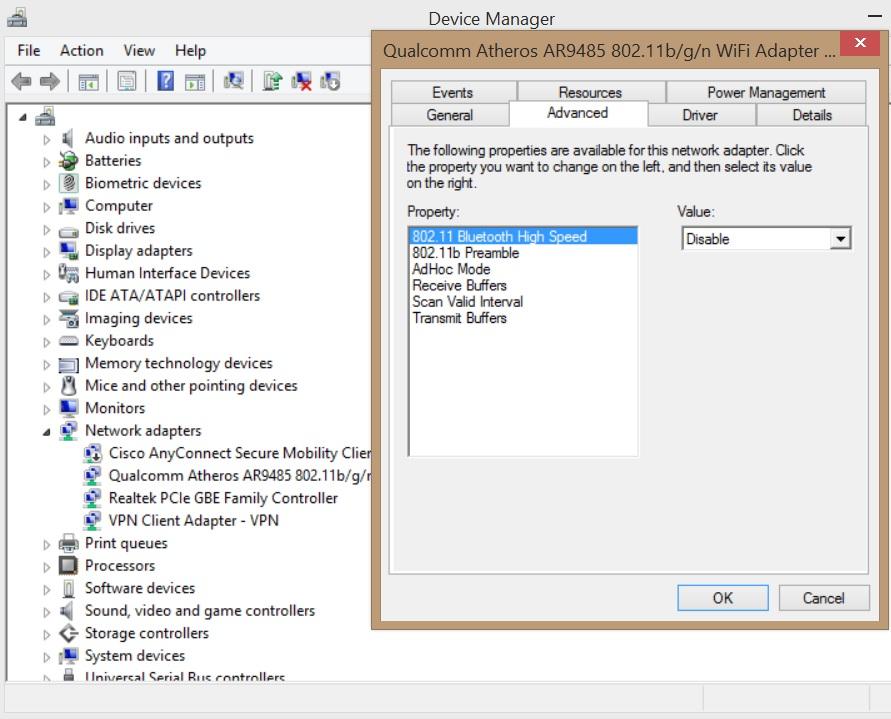 Windows 8 Wireless Issues - Qualcomm Atheros AR9485 Wireless... - HP