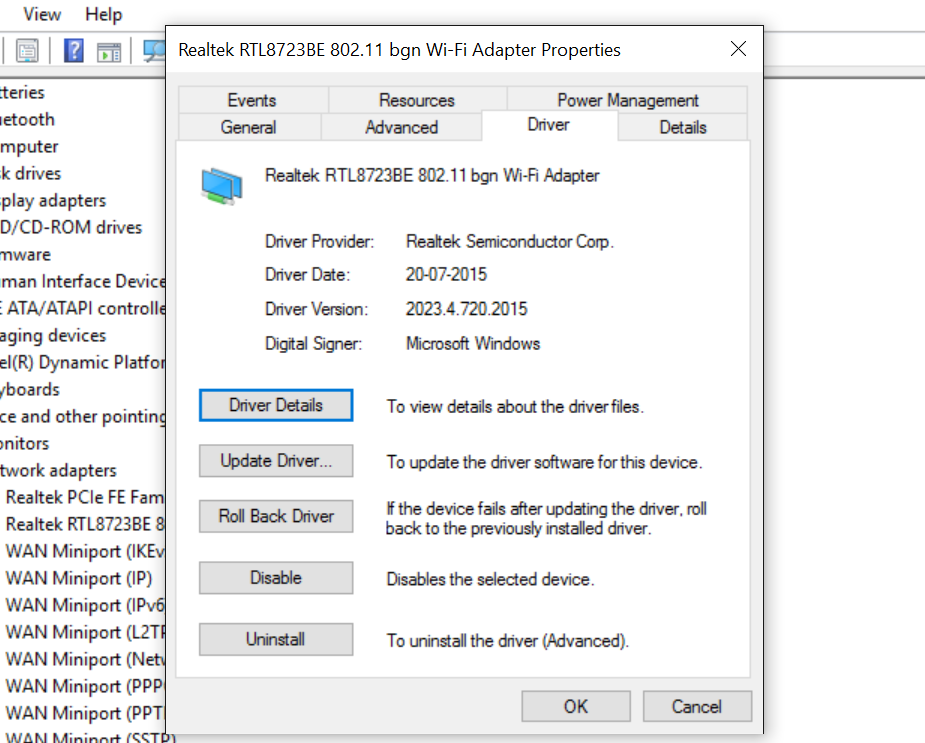 realtek hotspot driver for windows 10
