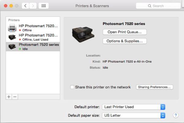 hp deskjet 2540 offline mac