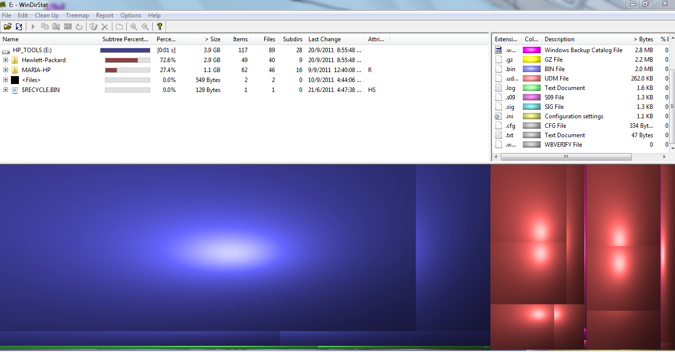 low disk space hp_tools (E:)