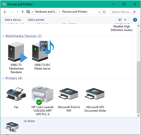 how to open devices and printers in windows 8