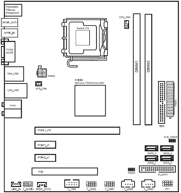 I Need The Motherboard Wiring Diagram Or Pictorial For The H    - Hp Support Community
