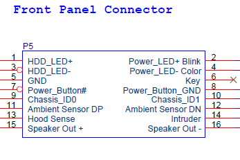 Solved: Front panel connector pinout - HP Support Community