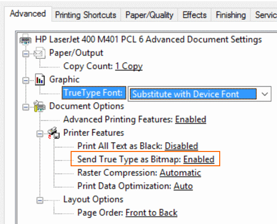 Solved: Lato TTF Font not printing correctly on M400 M401