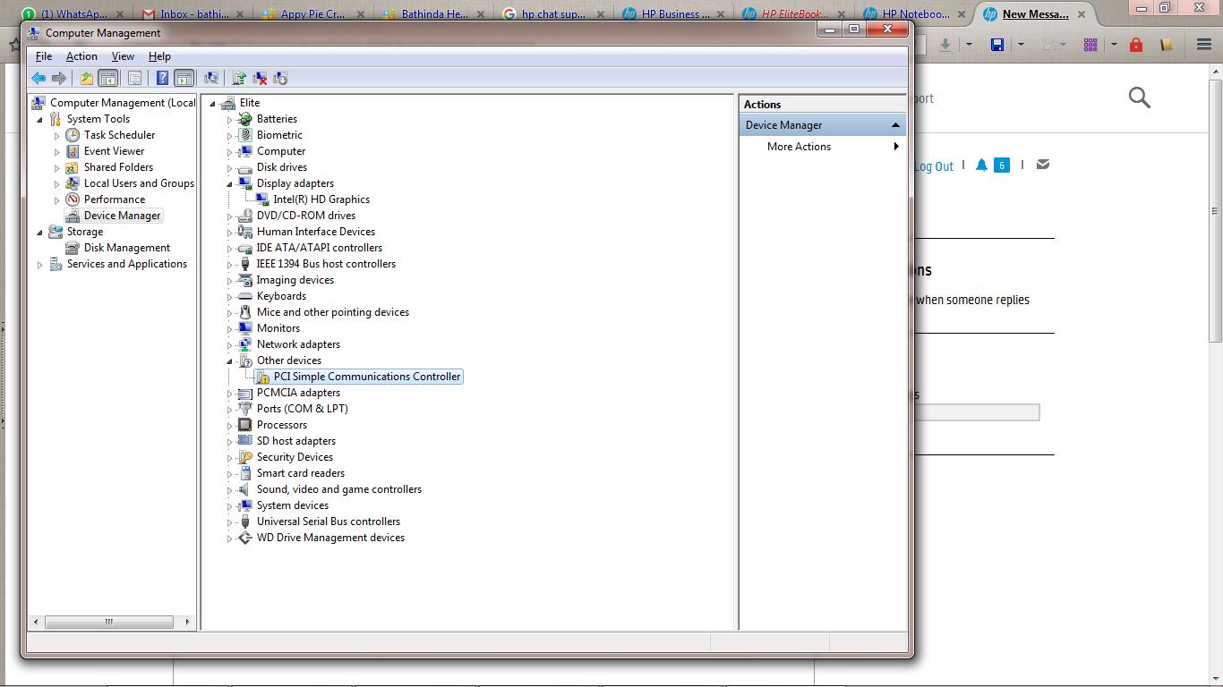 HP EliteBook 8540p Notebook Intel Management Engine Components Driver