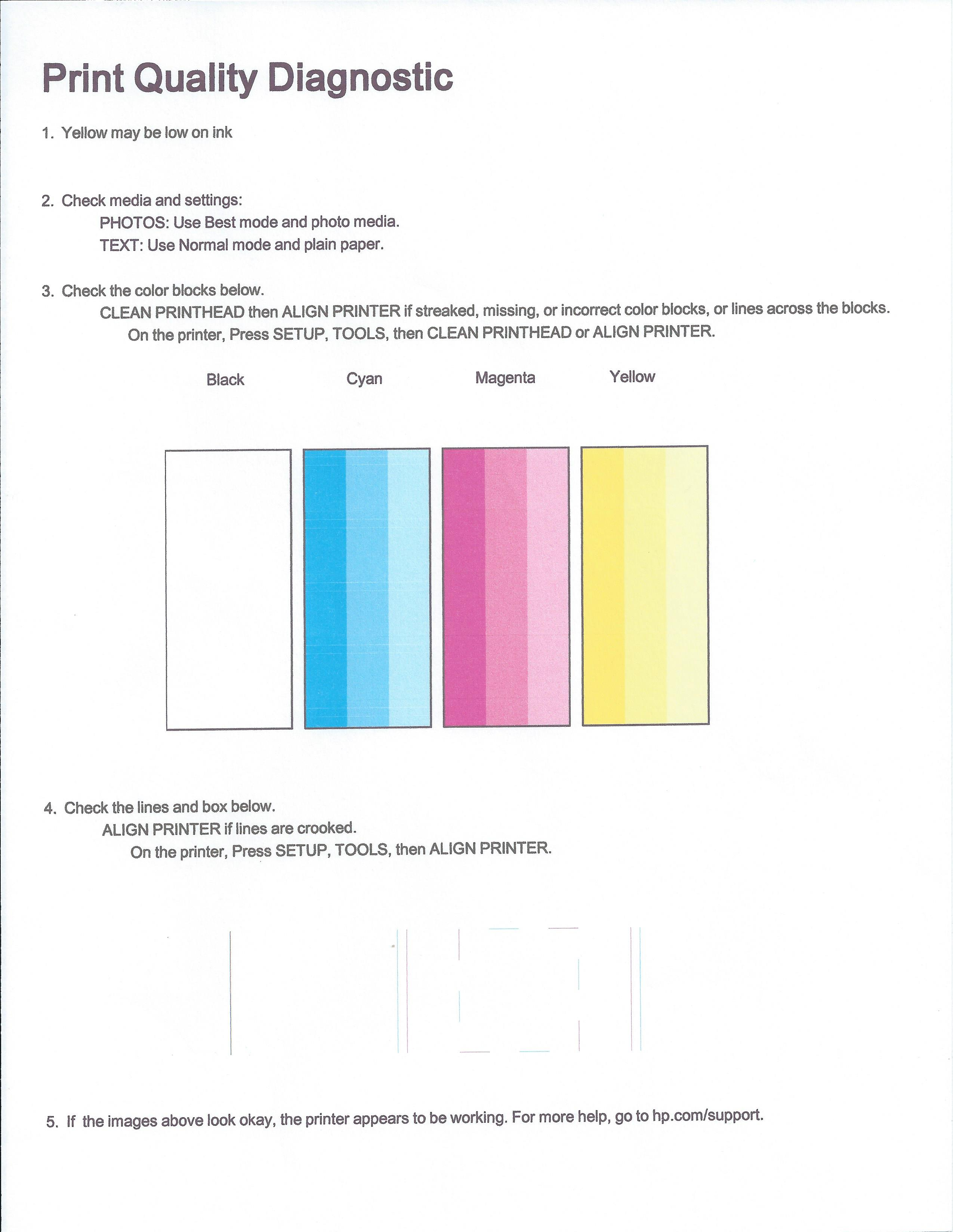PhotoSmart 6520 Printer Not Printing Black Correctly