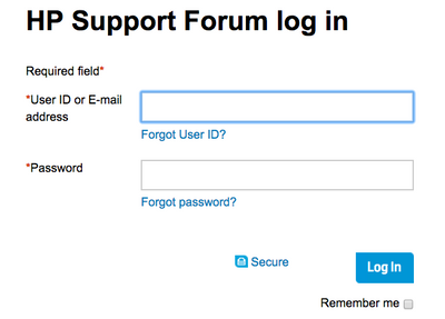 Cannot login into forums with username  must supply email - HP