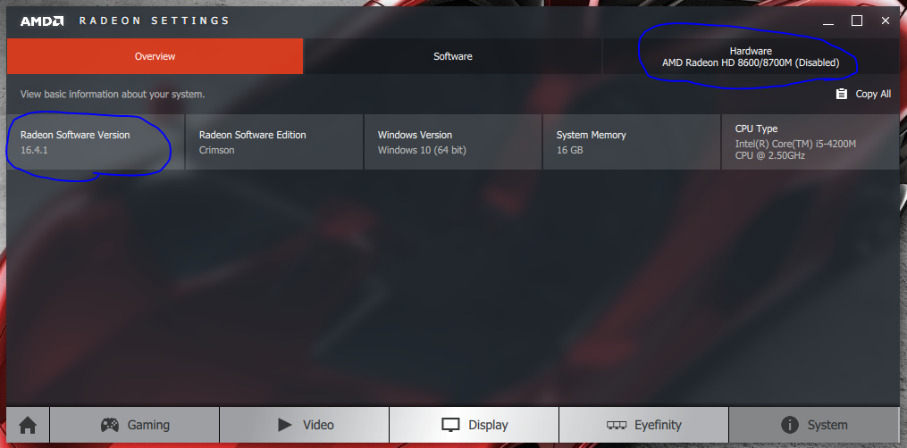 Solved Amd Radeon Hd 8750m Is Disabled Hp Support Forum