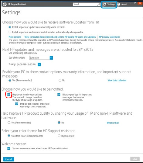 Stop HP Support Assistant starting automatically - HP