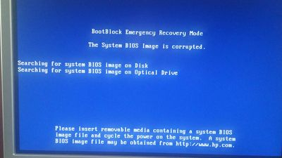 Z600 Bios Image Corrupt - ROM flash doesn't work - HP