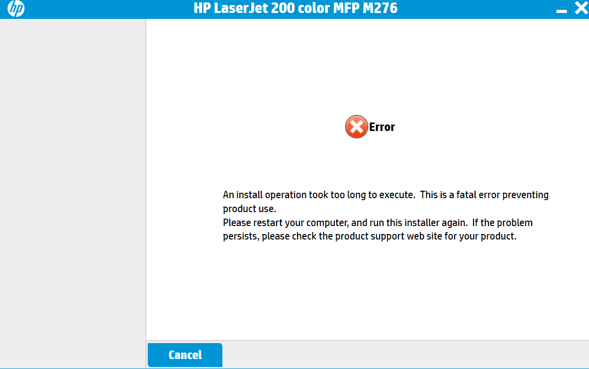 LaserJet Pro 200 color MFP M276nw/ a code 79 service error t... - HP  Support Community - 3261971