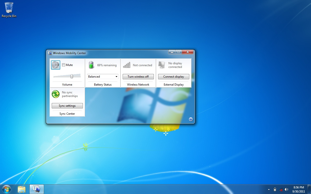 how to change brightness on windows 7 pc
