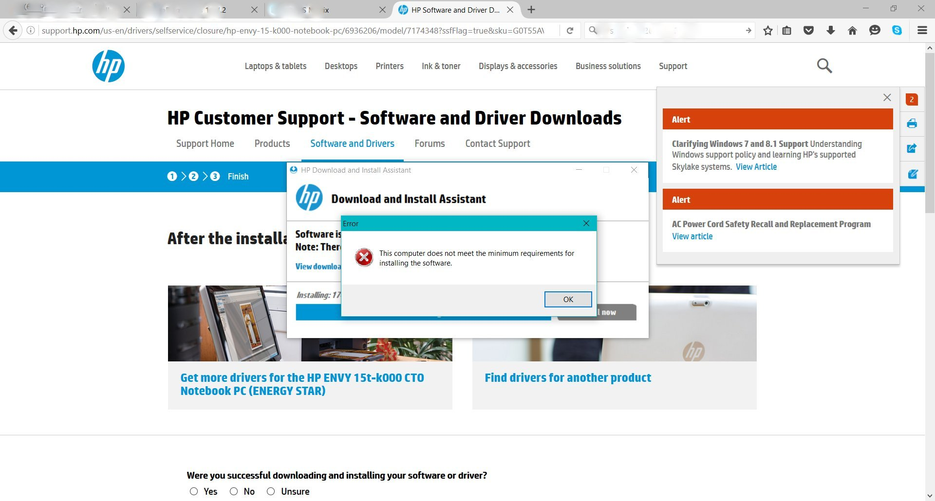 Problem installing HP update  exe file - HP Support Community - 5601414