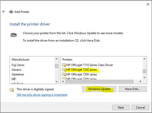 hp 7300 printer driver mac