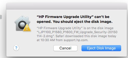 """Hp firmware upgrade utility quit unexpectedly"""" when trying."""