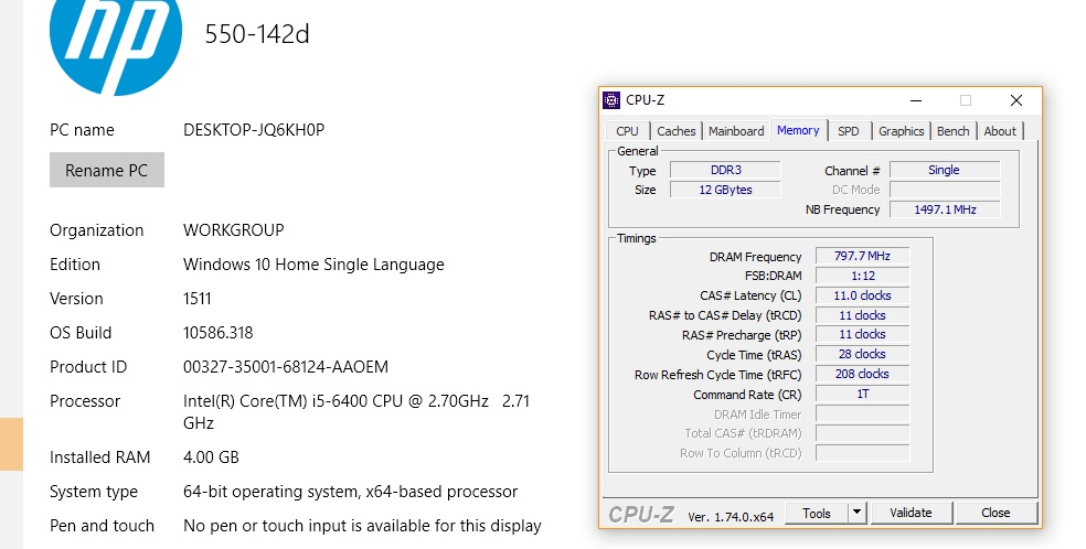 Installed new Ram Not Detected - HP Support Community - 5645251