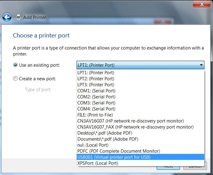 Adobe pdf port printer download