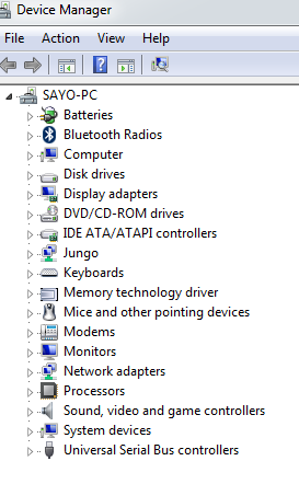 Device manager portable devices missing