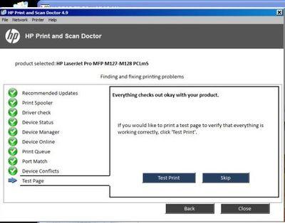 Cant Scan Or Print In Hewlett Packard HP LaserJet Pro MFP M1