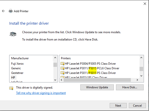 hp laserjet 3015 drivers for windows 10