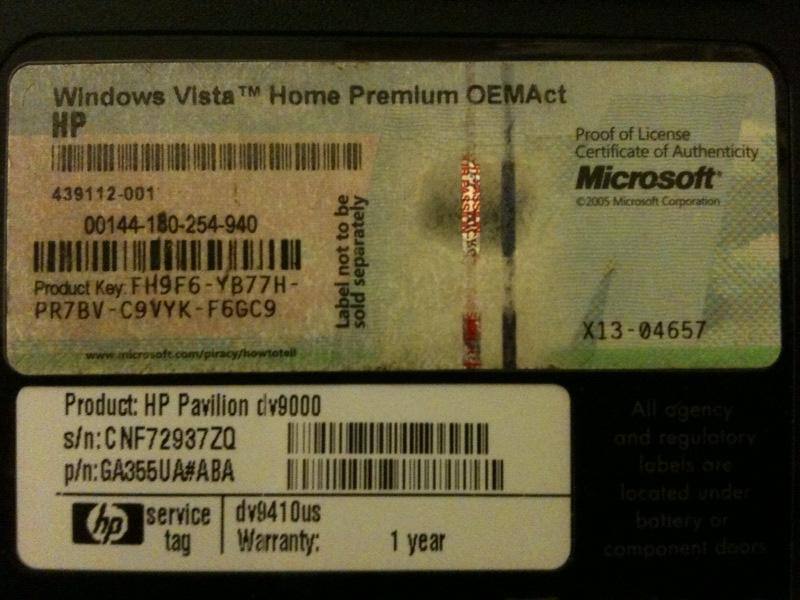 Microsoft Windows Vista Home Basic Emachines