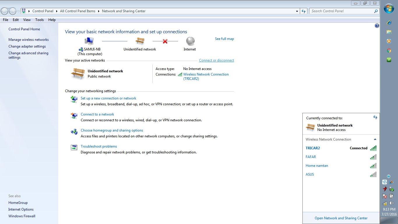 Unidentified Network - HP Support Forum - 5704323
