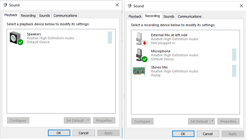 windows 10 no sound from speakers