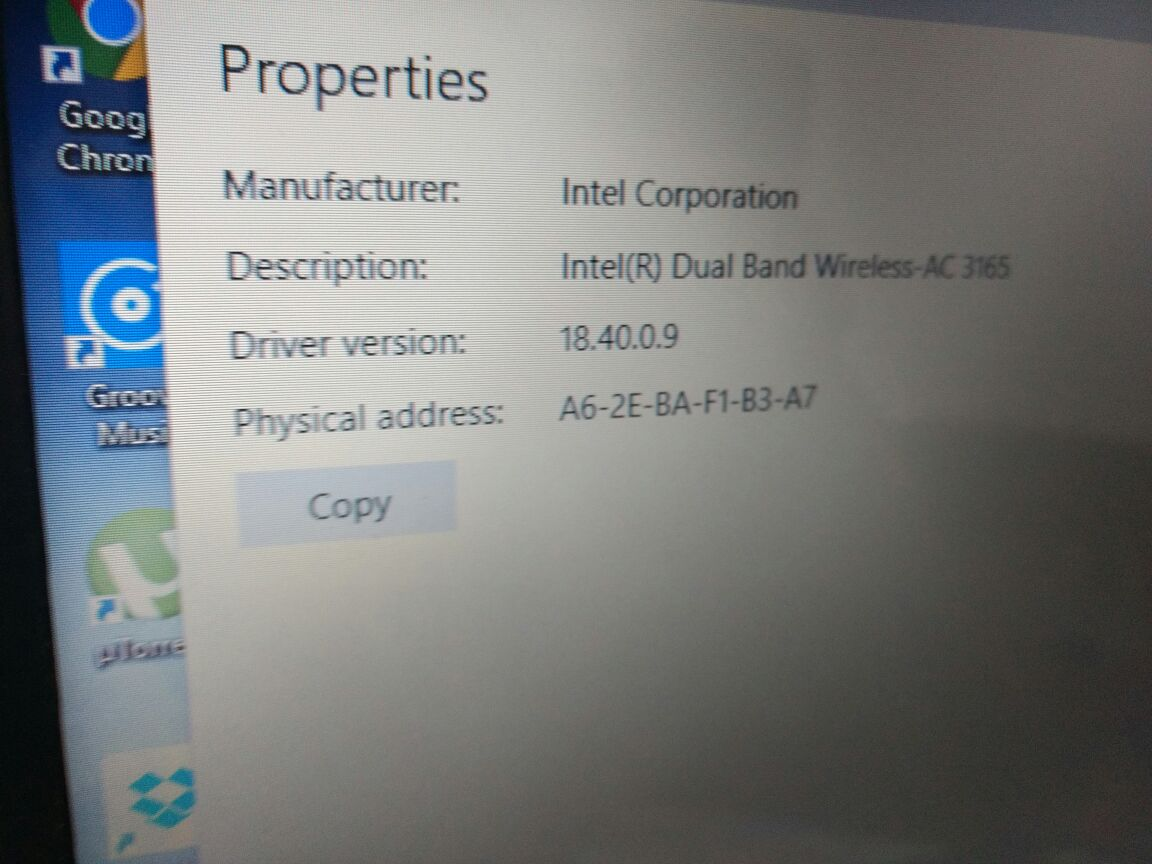 MAC address/Physical address changes everytime i restart my