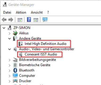 conexant audio device windows 10