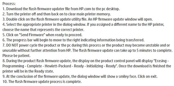 hp m451dn firmware