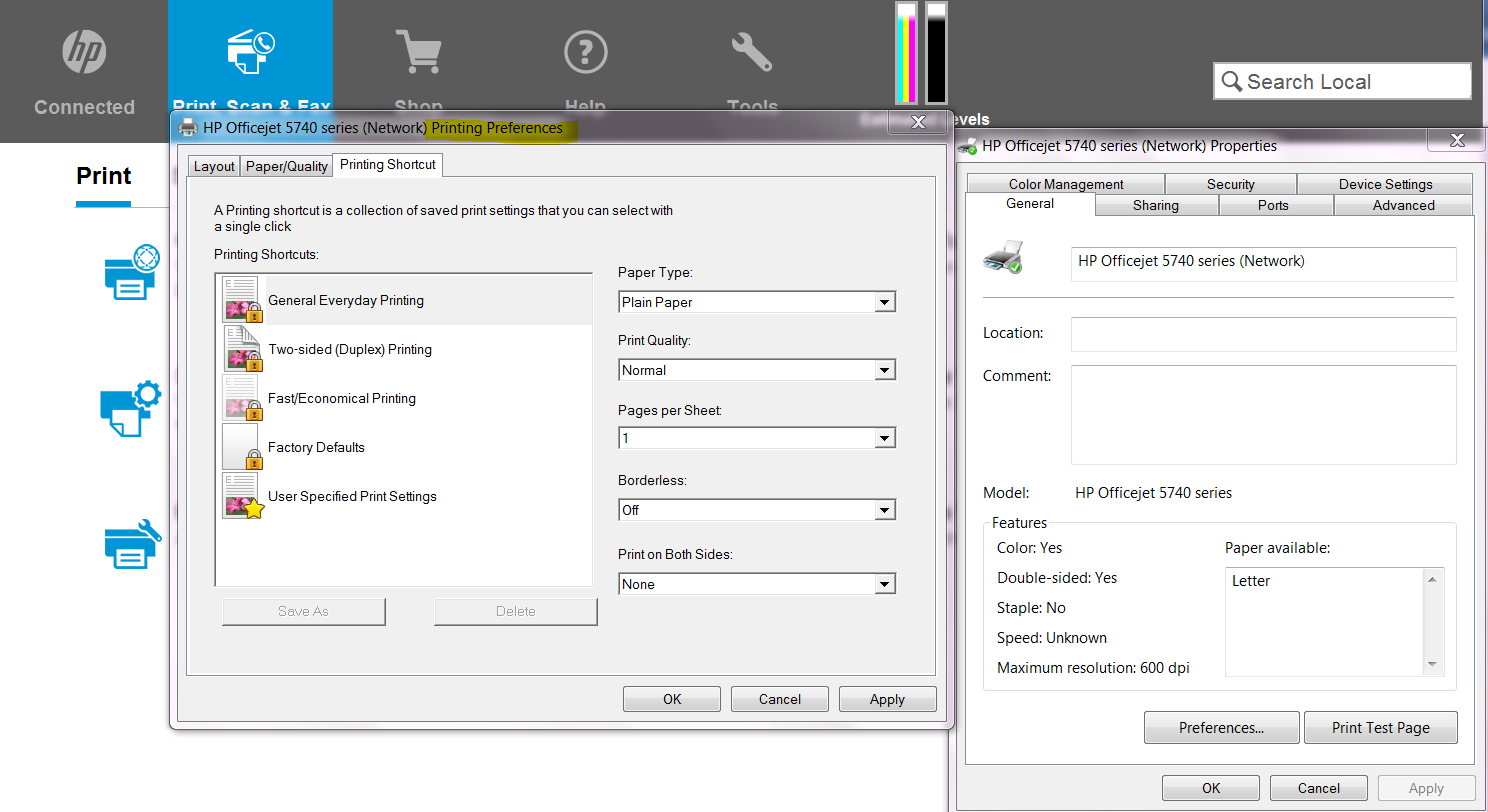 Only Prints In Grayscale I Do Not Have The Option To Change
