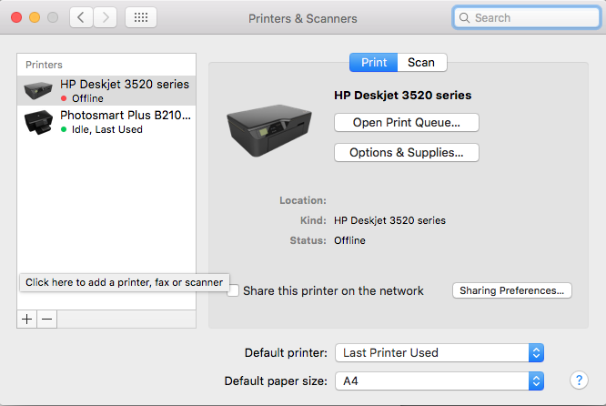 how to install printer on macbook air