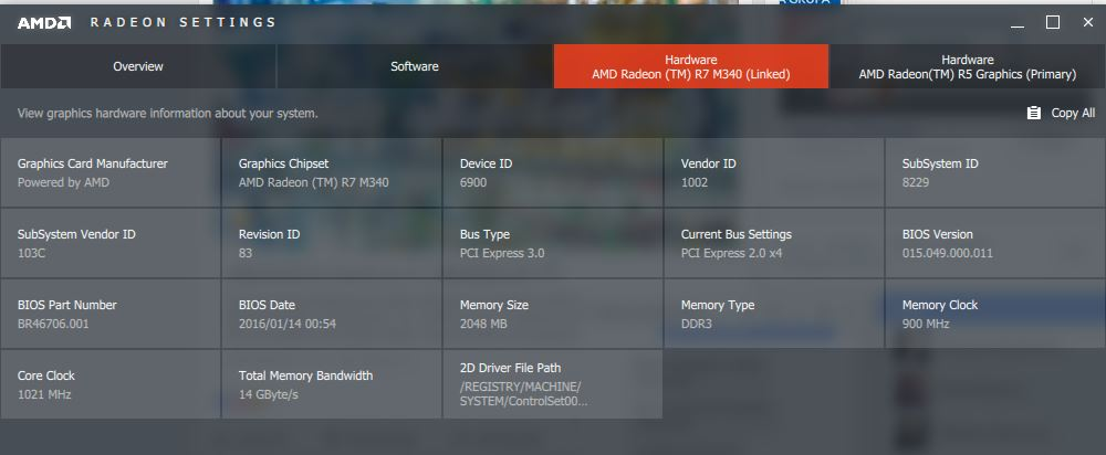 Radeon M340 + R5 graphics instead of M440 - HP Support Community