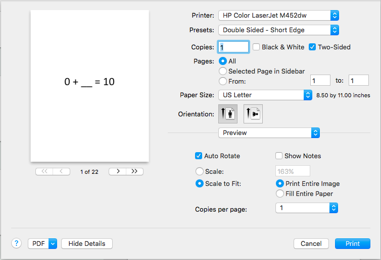 printing duplex on 3x5 index cards