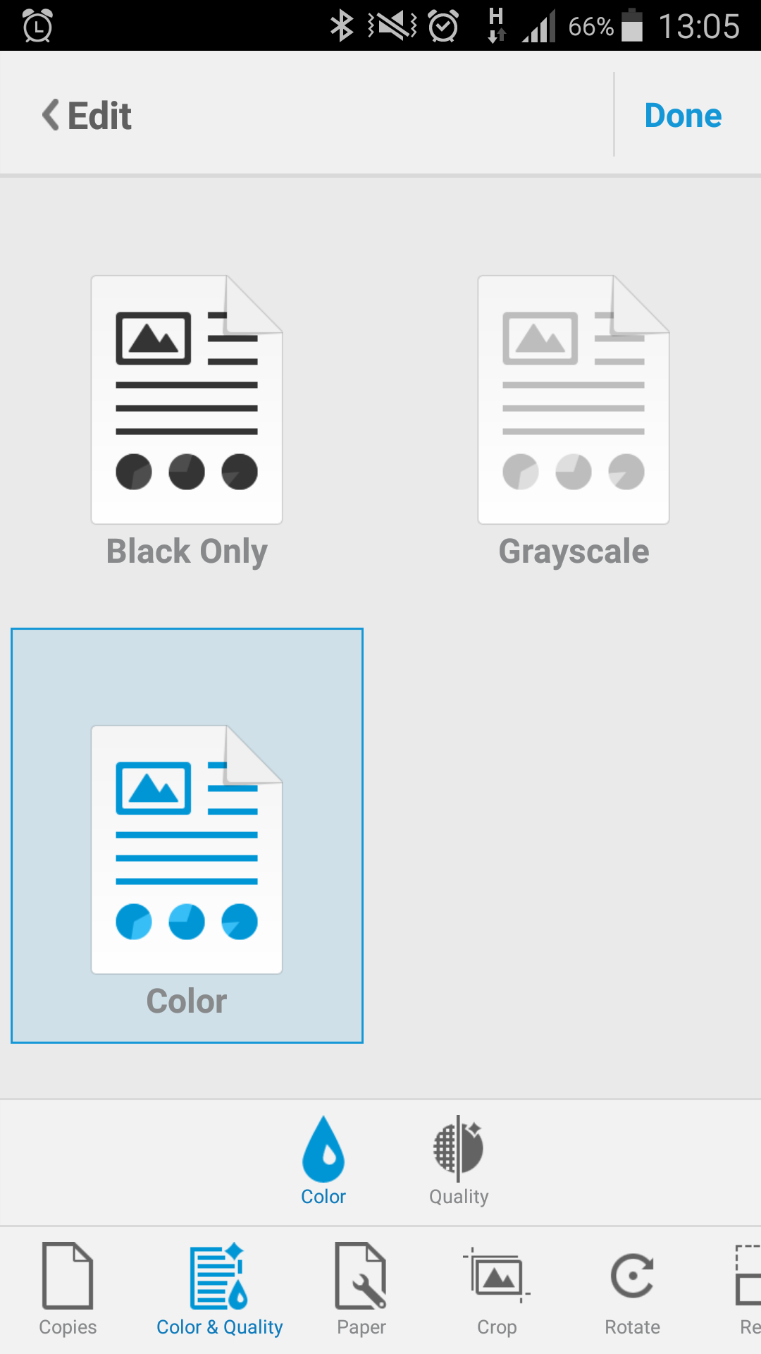 Cant Print in colour using the ePrint app on Android - HP
