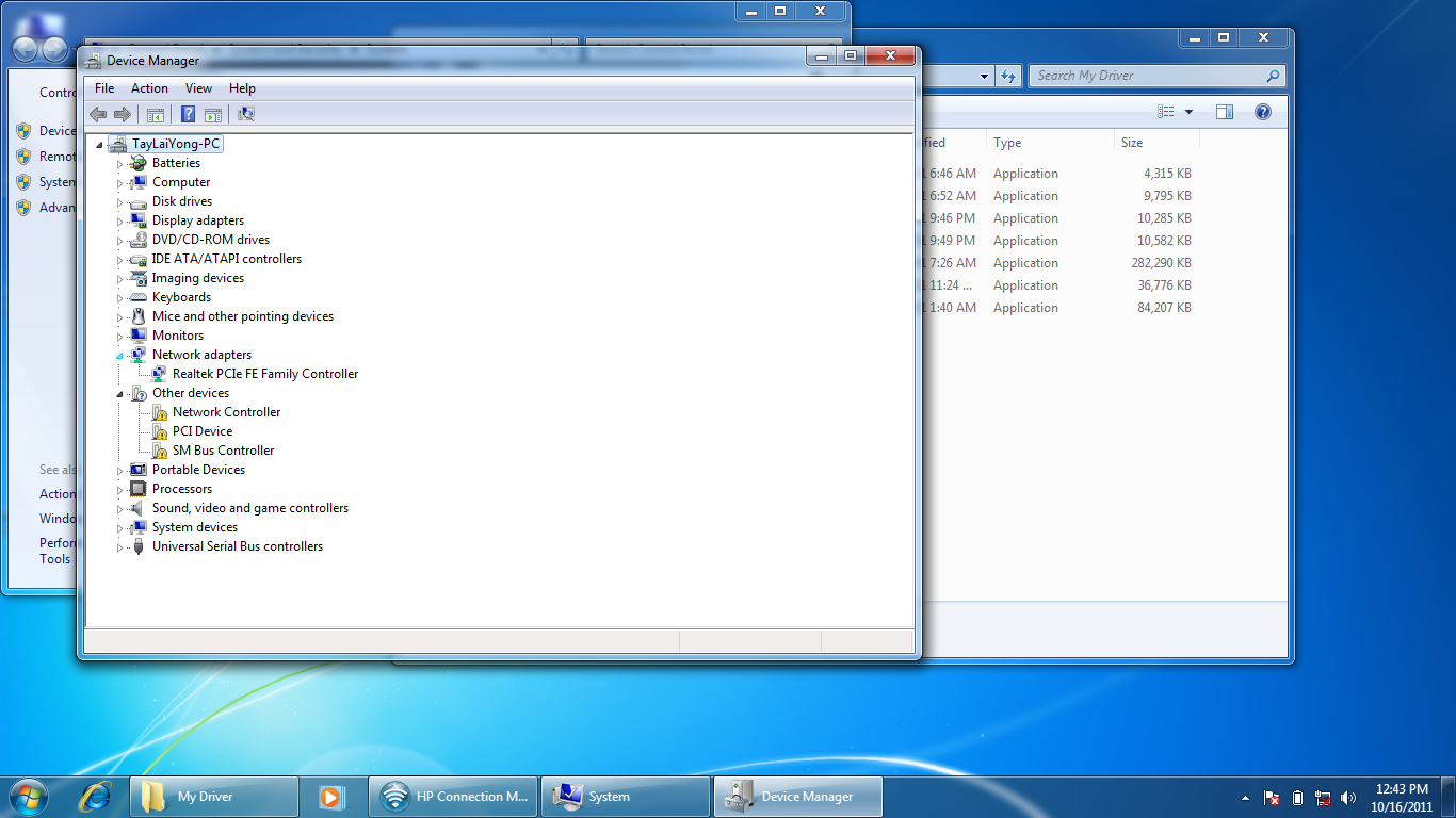 Hp notebook drivers for windows 7 - This Is My Device Manager Window 7