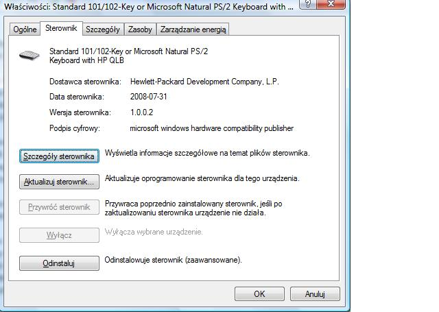 keyboard with hp qlb driver