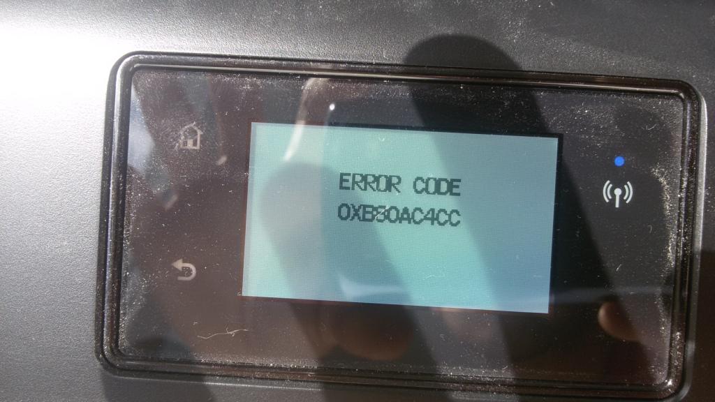 Solved: HP DeskJet Ink Advantage 4535 Error code - HP Support