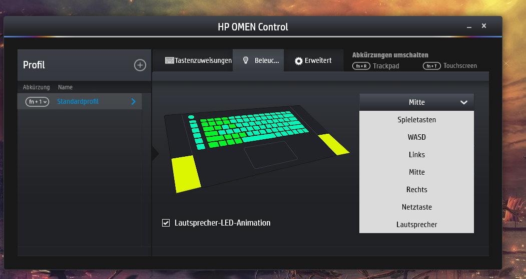 HP omen control cannot change the keyboard light colour - HP Support
