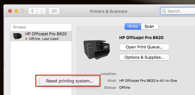 hp scan software for mac os x