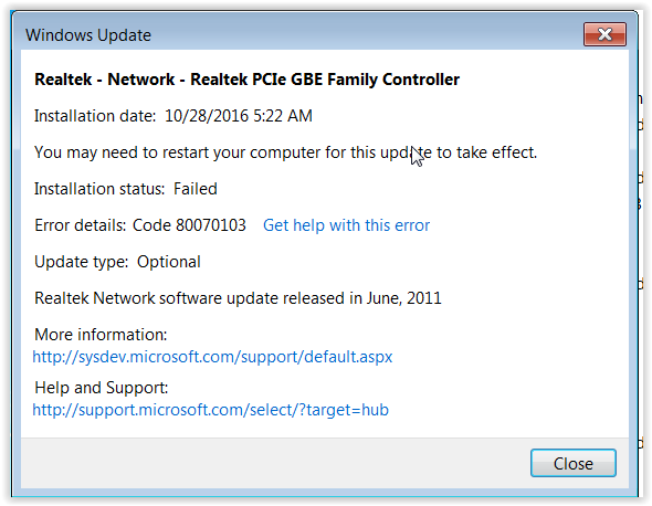Realtek update error message.PNG