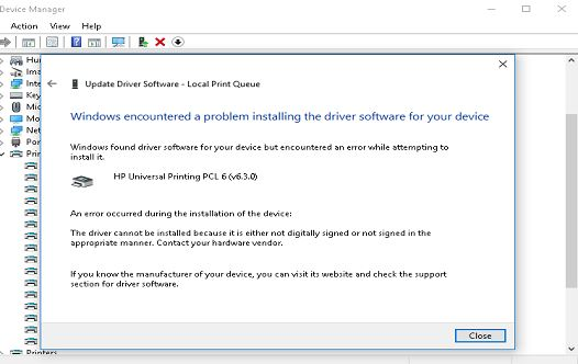 Attempting To Update The Driver Manually Via Device Manager