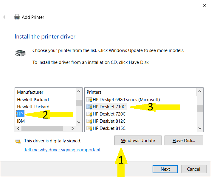 Deskjet 710c driver download.