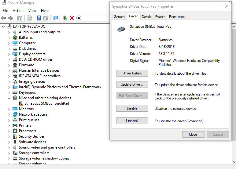 Touchpad Not Working - HP Support Community - 5899112