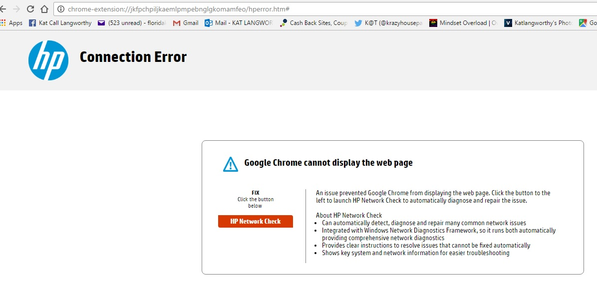 google chrome page display problems