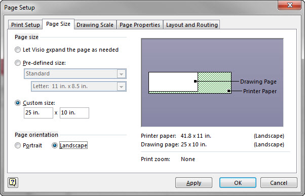 Visio 2013 Printing Distortion On T1100