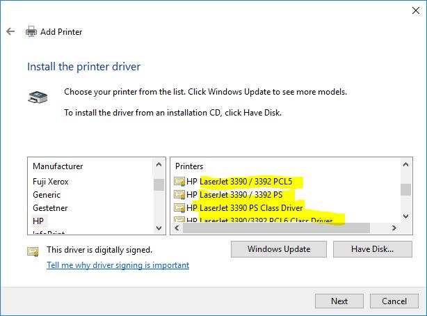 скачать драйвер для принтера Hp Laserjet 3390 Windows 10 - фото 3