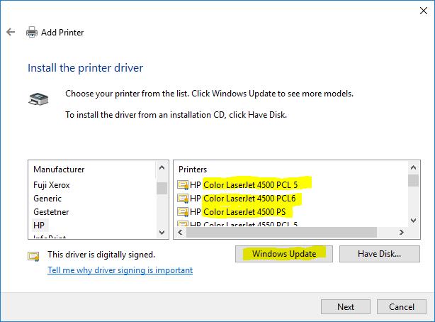 Hp color laserjet 4500 driver download drivers & software.