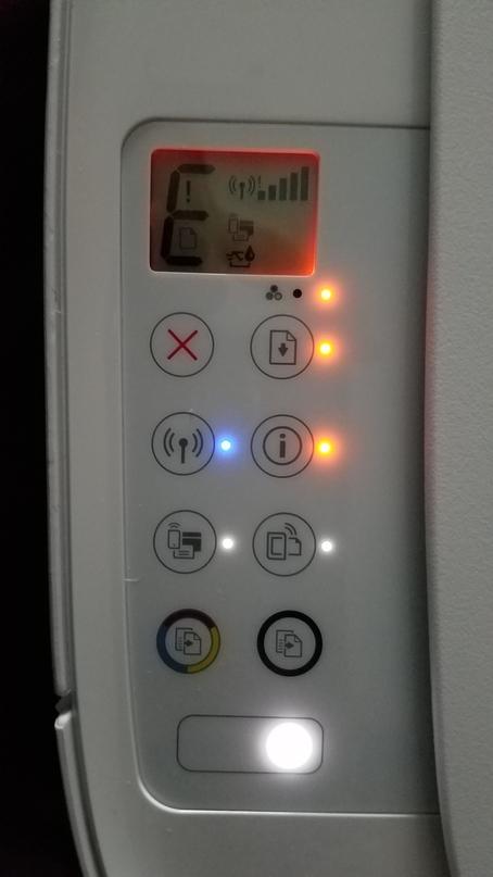 HP Deskjet 3630 in E code and blinking lights - HP Support Community